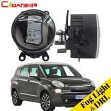Cawanerl Car Accessories LED Fog Light Daytime Running Lamp DRL White 12V For Fiat 500 L4 1.4L 2012 2013 2014 2015(China)