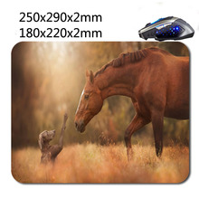 Horse meets Dog Wholesale Custom 220*180*2mm Print Gaming Mouse Mat High Quality Durable Fashion Computer and Laptop Mouse Pad