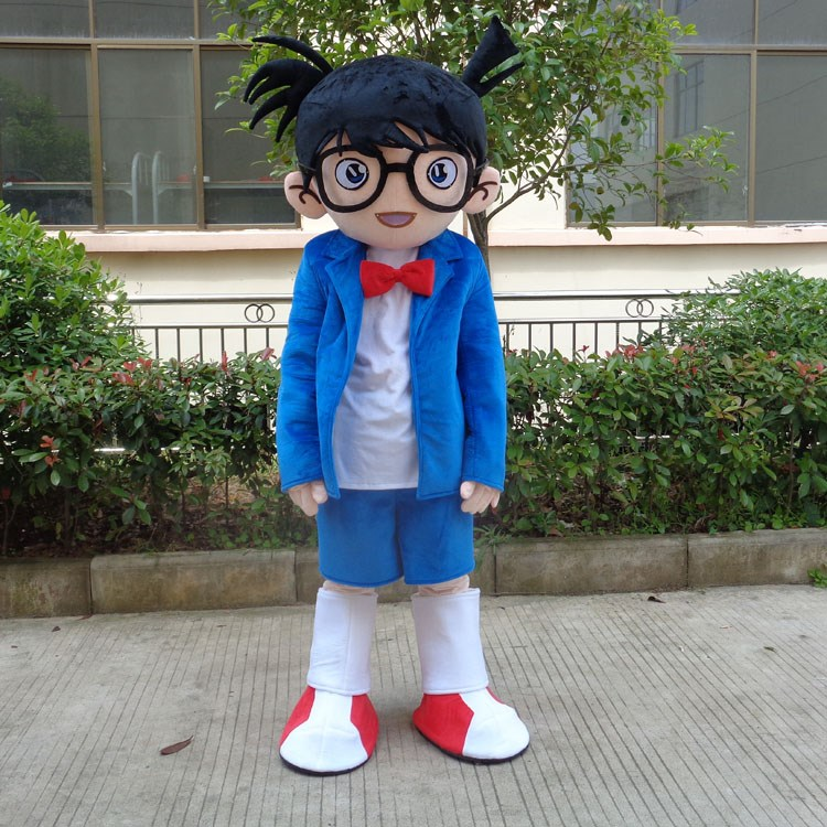 Detective Conan Edogawa Glasses Cosplay Anime Costume Outfit Dress Up Fancy