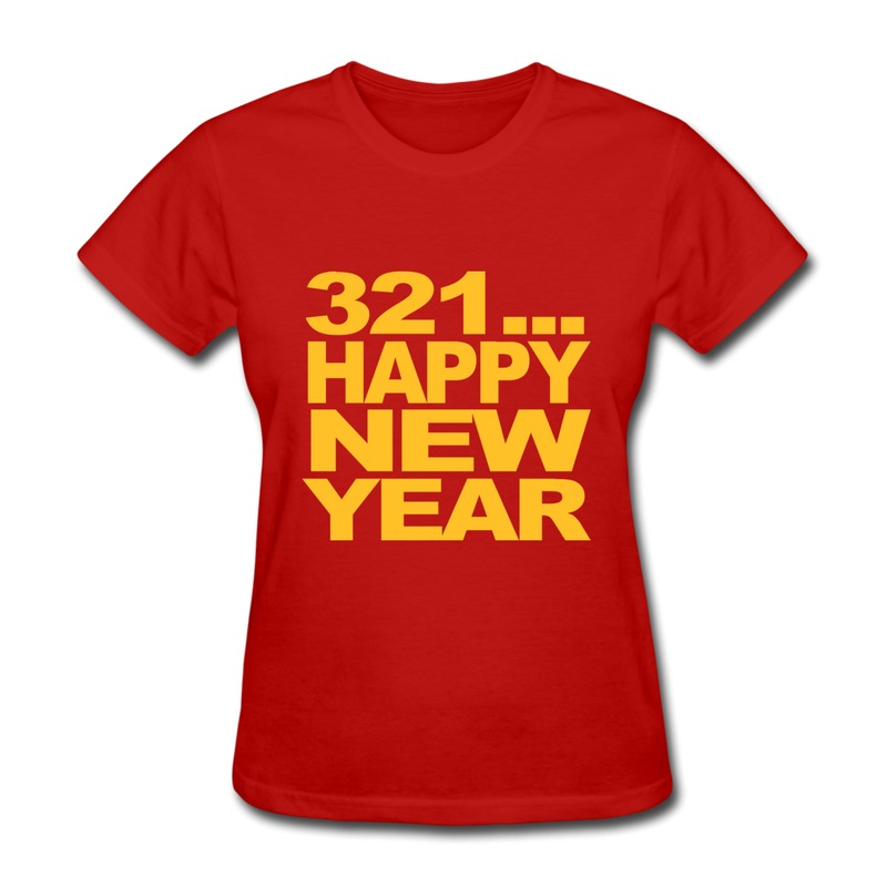 Customize Cotton Girls T Shirt Happy New year t shirt design Jokes     Customize Cotton Girls T Shirt Happy New year t shirt design Jokes Union  Tee Shirts for Women 100  Cotton in T Shirts from Women s Clothing    Accessories on