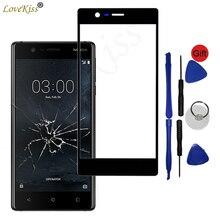اللوحة الأمامية لنوكيا 3 Nokia3 TA 1020 TA 1032 شاشة تعمل باللمس الاستشعار LCD عرض محول الأرقام غطاء زجاجي لمس TP استبدال