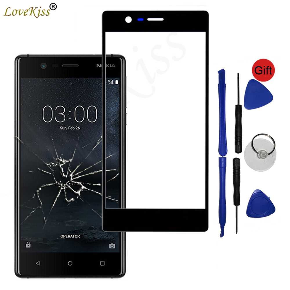 Front Panel For Nokia 3 Nokia3 TA-1020 TA-1032 Touch Screen Sensor LCD Display Digitizer Glass Cover Touchscreen TP Replacement