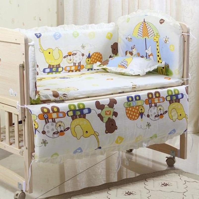 Bedding Sets Honest Baby Bedding Set Bumper Cotton Carton Print Soft Baby Bedding