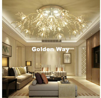 Free Shipping Gold Color G9 Crystal Ceiling Lamp Crystal Light Bedroom Luminarias Home Decor Creative LED Crystal Ceiling Lamp