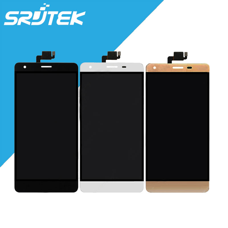 5 5 For Oukitel K6000 Black White Gold Texted 1280x720 LCD Display Touch Screen Digitizer Full
