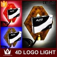 Guang Dian Front Car Rear Emblem Light Lamp 3d Car Badge Auto Led Logo Light EL