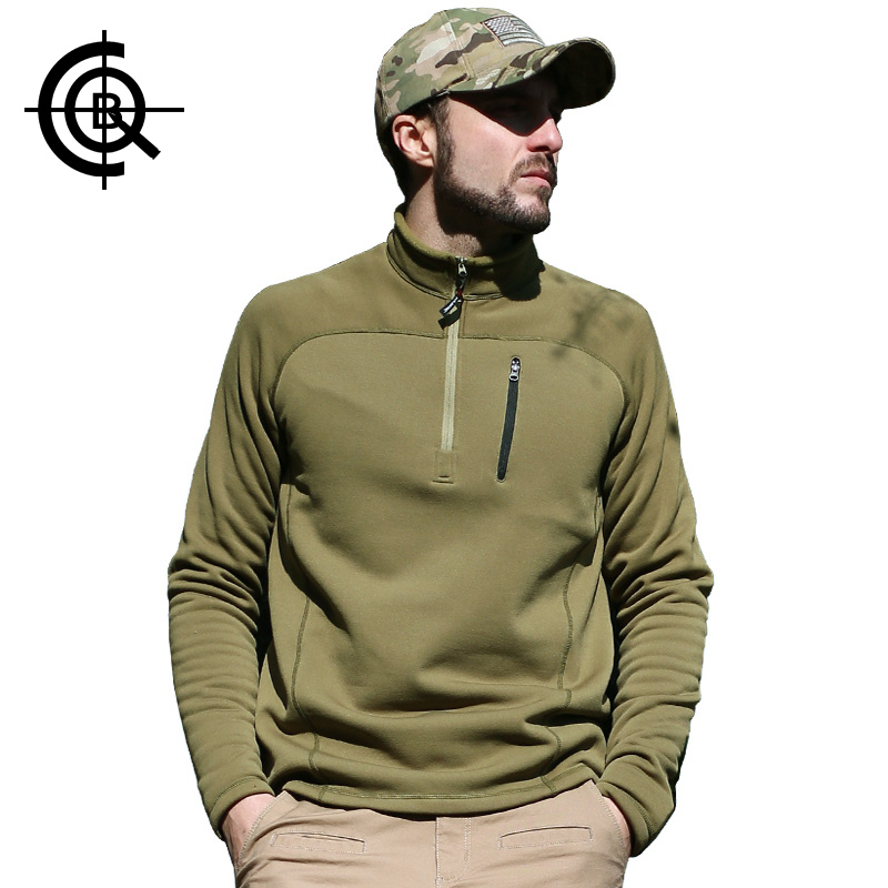 CQB High Quality Outdoor Fleece Jackets Thermal Polartec Military Fleece Pullover Polartec Military Anti-pilling Fleece  CYF0053