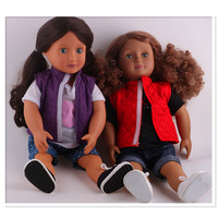 2set Coat T Shirt Pants Shoes Doll Clothes Wear Fit 18 Inch American Girl Doll Clothes