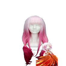 Anime for Guilty Crown Yuzuriha Inori Pink long straight Cosplay  sobretudo feminino Wig costume +wig cap free shipping