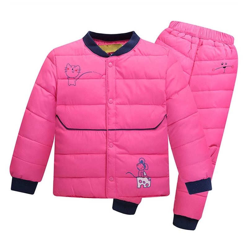 Hot Sale Kids Autumn Winter Clothes Set Cartoon Boy Girl Outerwear Suit Warm Outfit Warm Clothing