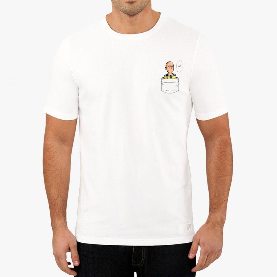 Summer Men S T Shirt One Punch Man Mini Saitama Says Ok Pocket Tshirt Anime Cool Tees Tops Harajuku Streetwear T Shirts Aliexpress
