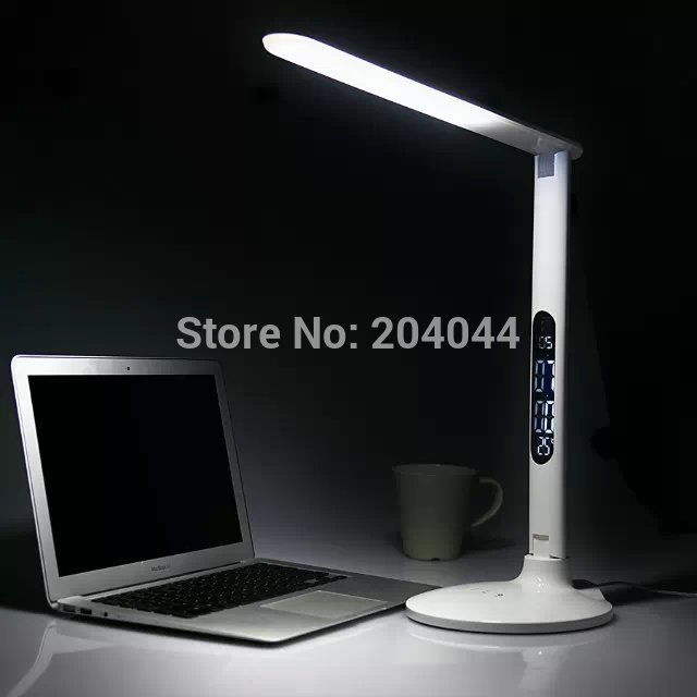 2017 New 2018 Street Led Light Free Shipping Table Lamp 8w Desk Touch Sensor 3-steps Dimming 220v Warm & Cold Metallic Style free shipping employee training table the long tables desk training carrel