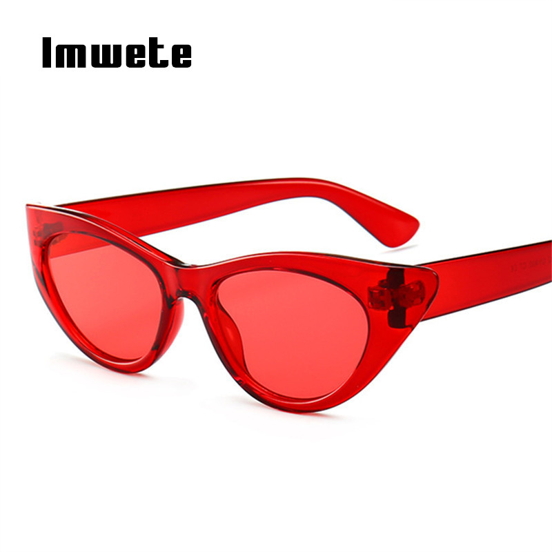 Imwete Retro Cat Eye Sunglasses Women Luxury Brand