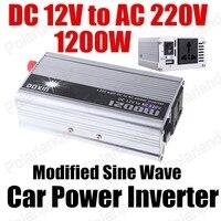Groothandel transformator modifier sinus 12 V DC naar AC 220 V Auto Auto Omvormer Converter Adapter 1200 W