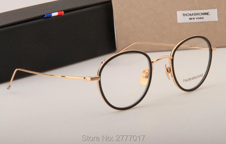 32b569b2d22d Thom Browne eyeglasses metal frames TB905 men women Oculos Vintage ...