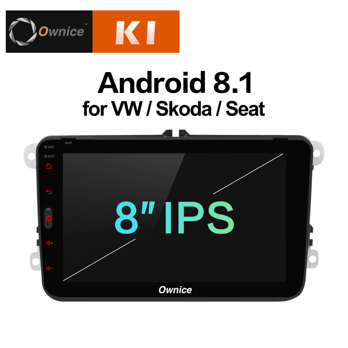 K1 android 8.1 Car Multimedia GPS Navi Autoradio Intelligent System For Volkswagen Skoda/Octavia/Fabia/Rapid/Yeti/Superb/VW/Seat эмблема для авто vw original oem vw skoda skoda fabia octavia roomster