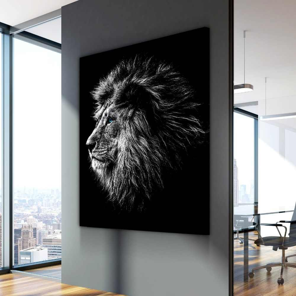 Nordic Wall Picture Blue Eyed Lion Animal Poster Modern Decorative Paintings on Canvas Wall Art for Home Decorations Wall Decor