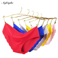 Women Sexy Seamless Panties,6 Colors Ultra-thin Traceless Trimming Ruffles Briefs,Plus Size Underwear Panty For Lady