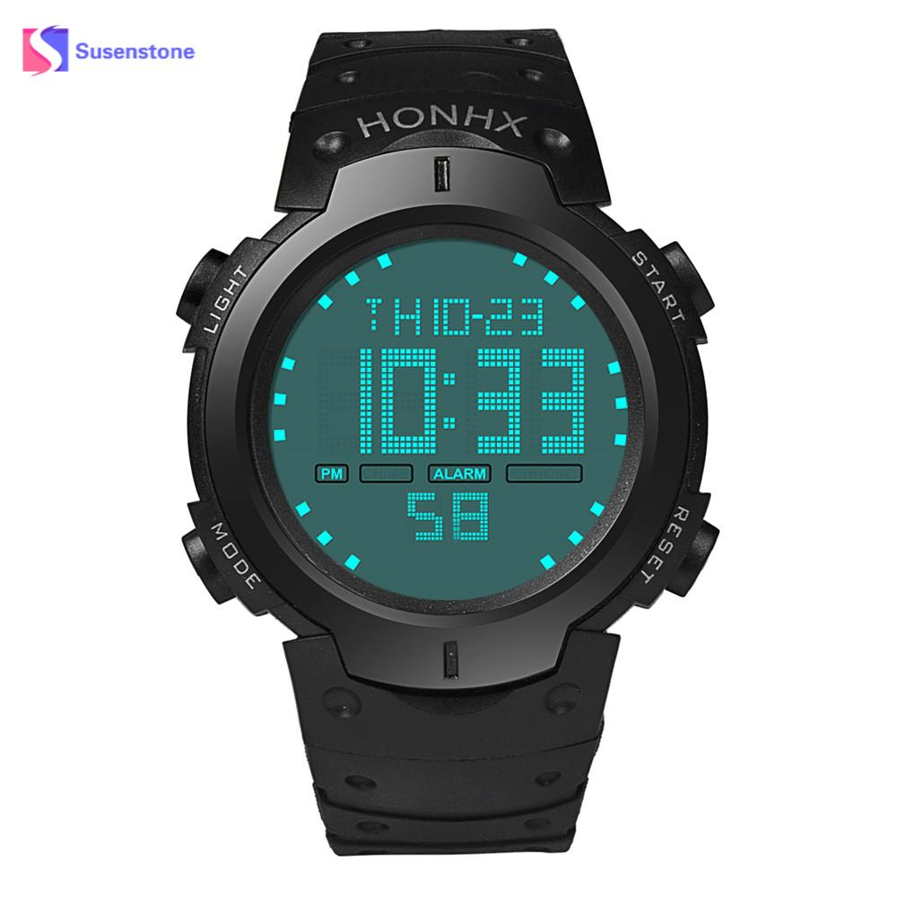 Fashion Brand Waterproof Men's Boy LCD Digital Stopwatch Date Rubber Sport Wrist Watch Quartz Wristwatches Relogio Masculino criancas relogio 2017 colorful boys girls students digital lcd wrist watch boys girls electronic digital wrist sport watch 2 2