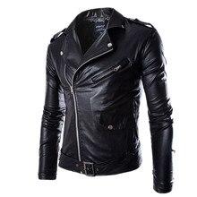67e9045b54012 Moda de Nueva Marca hombres negro pu zipper Suede Faux cuero punk manga  larga motocicleta Chaquetas Swag del motorista de hip-ho.