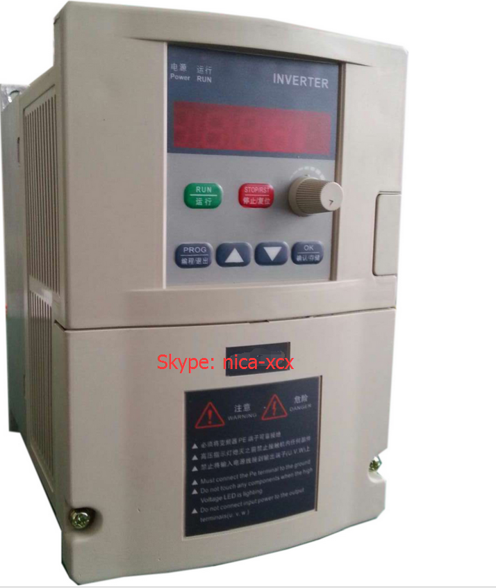 General VFD 0.75KW 380V  Three-phase 380V input Three-phase 380V  output motor speed controller  Inverter frequency converter 2 2kw single phase input to 380v output three phase inverter vfd driver good in condition for industry use module vector