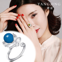 Anel Masculino Bague Femme Ring Sale Women Anniversary Anillos Natural Mexican Potter S925 With Movable Mouth With Certificate