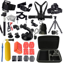 Go pro accessories set chest mount for gopro hero 5 4 3 3+ 2 Eken h9 r h8 r SJCAM SJ5000 camera tripod for Gopro kit xiaomi yi