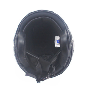Image 5 - Leather  Helmets 3/4 Motorcycle Chopper Bike helmet open face vintage motorcycle helmet  motocross