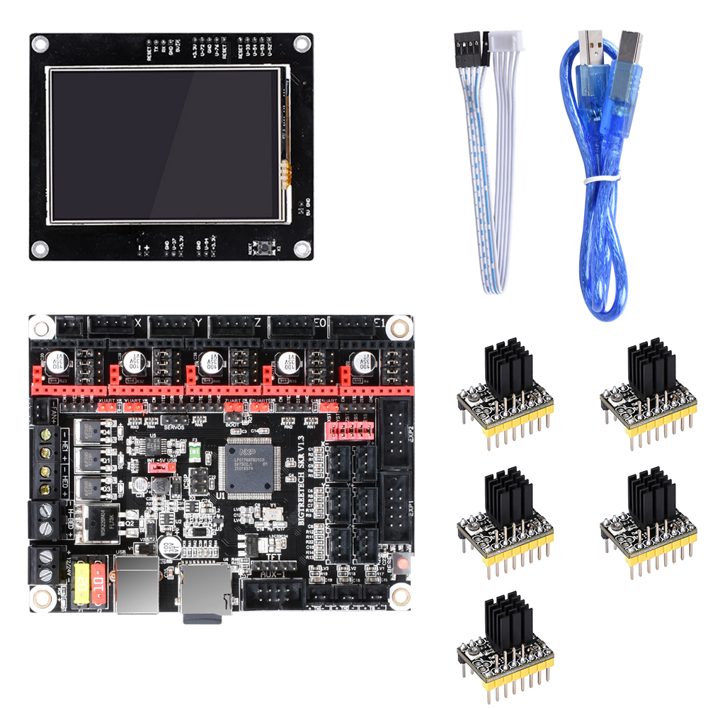 BIGTREETECH SKR V1 3 Smoothieboard Control Board+BLtouch V3 0 TMC2208  TMC2130+TFT35 Touch Screen 3D Printer Parts MKS GEN L