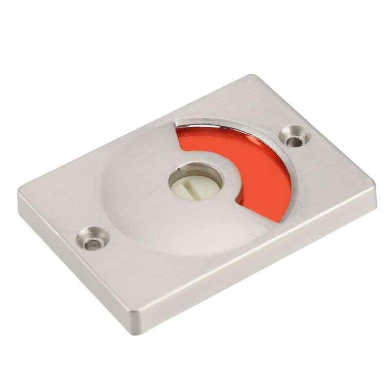 Аппаратный Индикатор Дверные замки с винтами ванная туалет конфиденциальности дверной Засов Туалет серебро