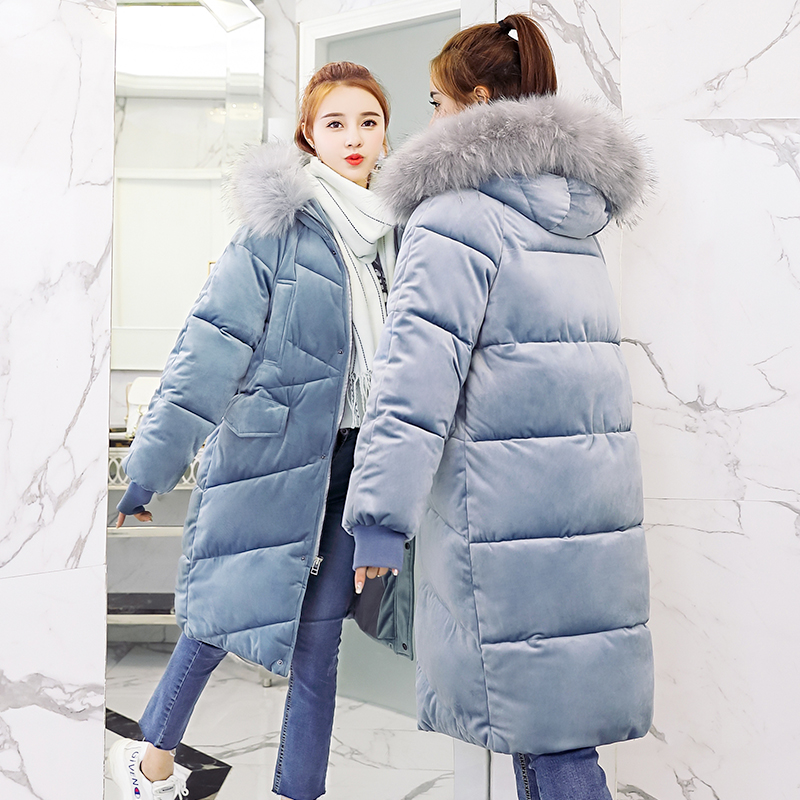 4 Color Winter Coat Women 2018 New Velevt   Parka   Casual Outwear Hooded Thickening Cotton Coat Winter Jacket Fur Coat Women Clothe