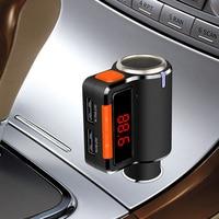 Lonleap Wireless Car Bluetooth Kit Handsfree FM Transmitter Music Radio Adapter Dual USB Car Charger Universal