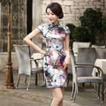 Shanghai Story Top-grade cheongsam Silk chinese tradition vestidos de fiesta wedding cheongsam dress Z00XX