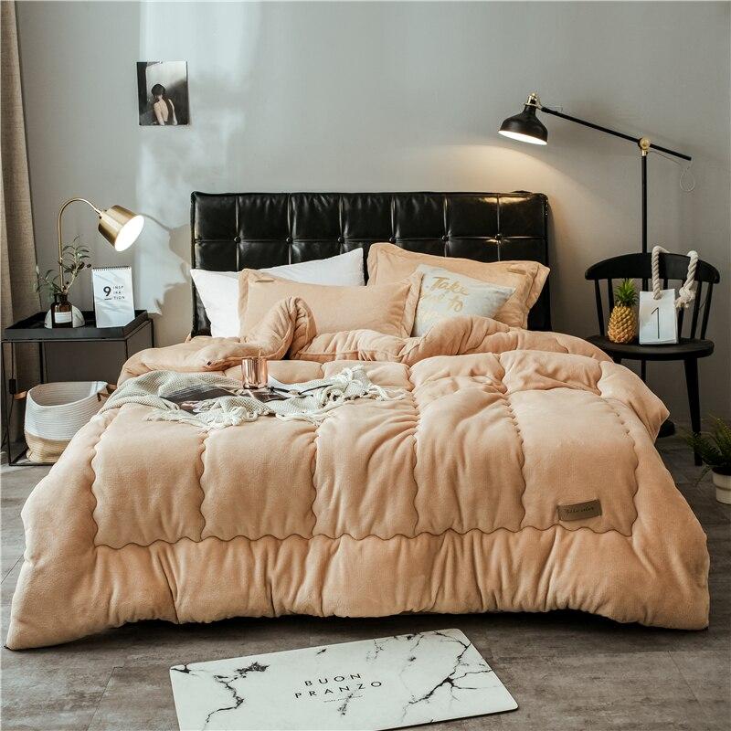 2019 New Double Sided Velvet Luxury Bedding Set Soft
