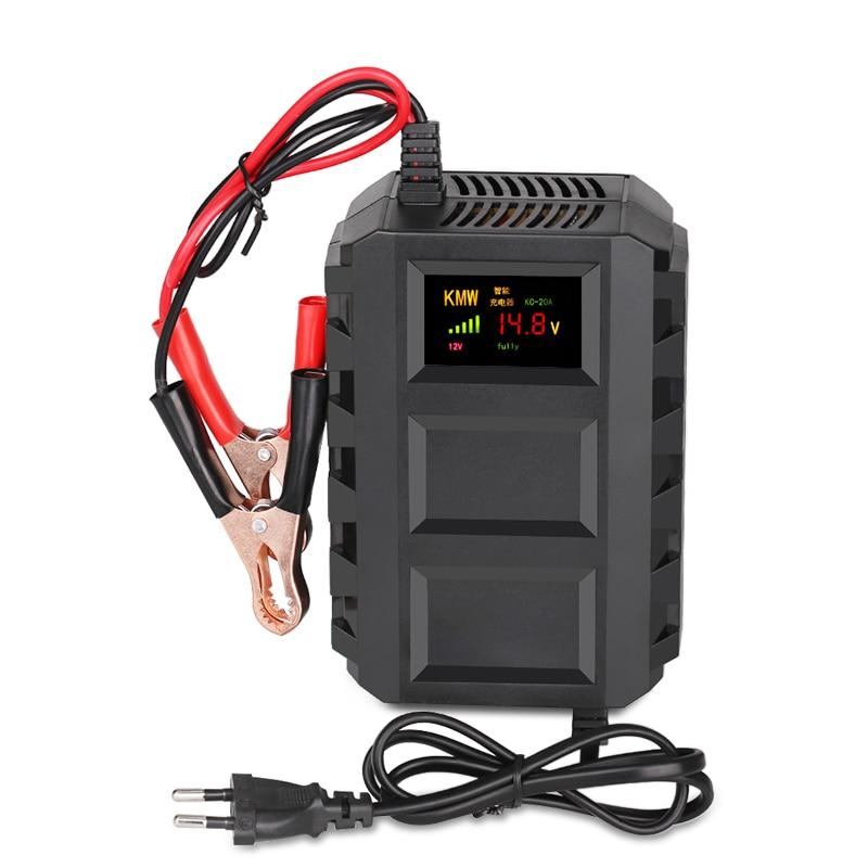 Automatico Intelligente 12 V 10A Motore Auto Auto Moto Caricabatterie Intelligente Della Batteria Per La Batteria Al Piombo di Carico di Potere del Display LCD
