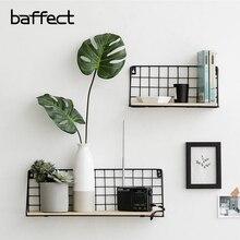 Baffect для домашнего хранения полка; дерево железные держатели для хранения стены склад для принадлежностей стойки украшения Органайзер подвесной ящик для хранения