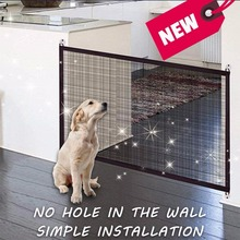 Magic Gate Portable Folding Safe Guard Install Anywhere Baby Safety Fence Pet Safety Enclosure Using In Car Or Home Pet barrier