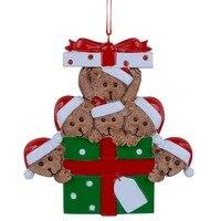 Großhandel Harz Bär Familie Von 6 Weihnachtsschmuck Personalisierte Geschenke, dass Können Schreiben Sie Ihre Eigenen Namen Für Urlaub Und Hause Decor
