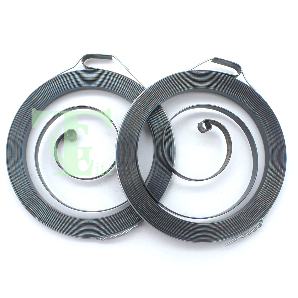 2Pcs/lot Recoil Starter Spring For PARTNER 350 351 370 371 390 MCCULLOCH 335 338 435 440 Petrol Chainsaw Replacement