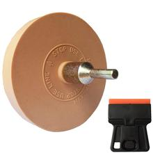 Borracha borracha borracha roda com broca kit adaptador para pinstripe cola adesivo decalques adesivos pintura do carro ferramenta de limpeza rápida e24 + e19