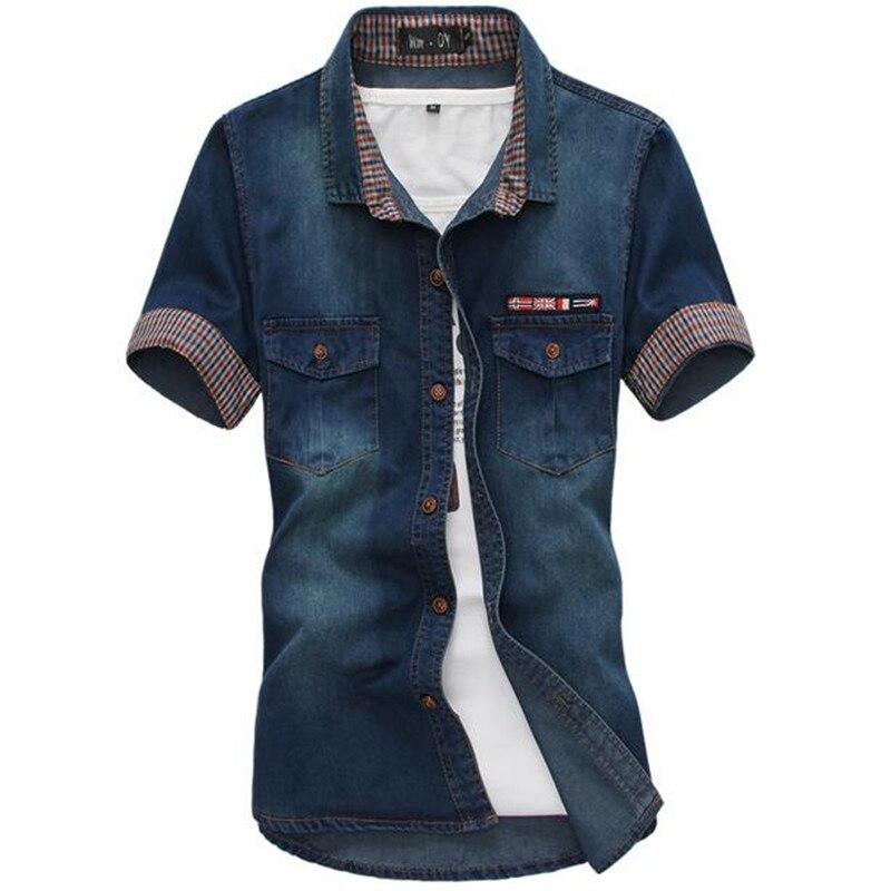 New 2017 summer denim shirt men 39 s cotton soft comfortable for Soft cotton dress shirts
