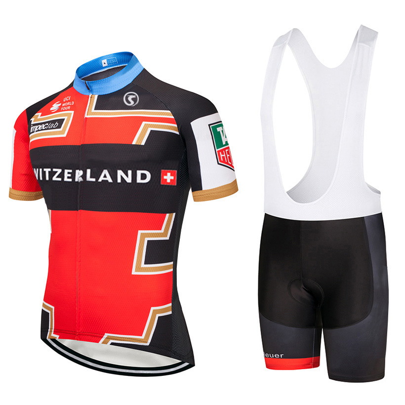 2018 TEAM switzerland Cycling Clothing Bike jersey Ropa Quick Dry Mens Bicycle summer pro Cycling Jerseys gel pad bike shorts