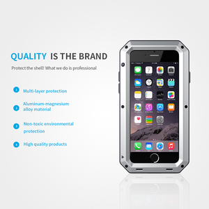 Image 3 - Heavy Duty Protection Case for iPhone 7 6 6s Plus 5 5s SE Cover Metal Aluminum Shockproof Armor Phone Cases + Glass Screen Film