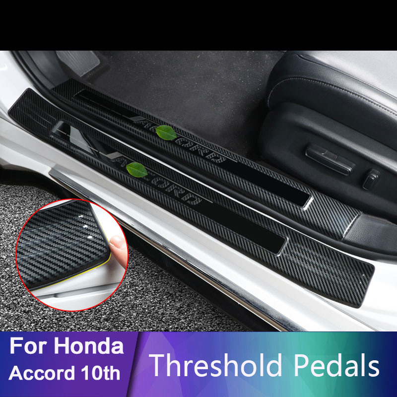 For Honda Accord 10th 2018 2019 Stainless Steel Car-styling Door Sill Scuff Plate Welcome Pedal Threshold Pedals