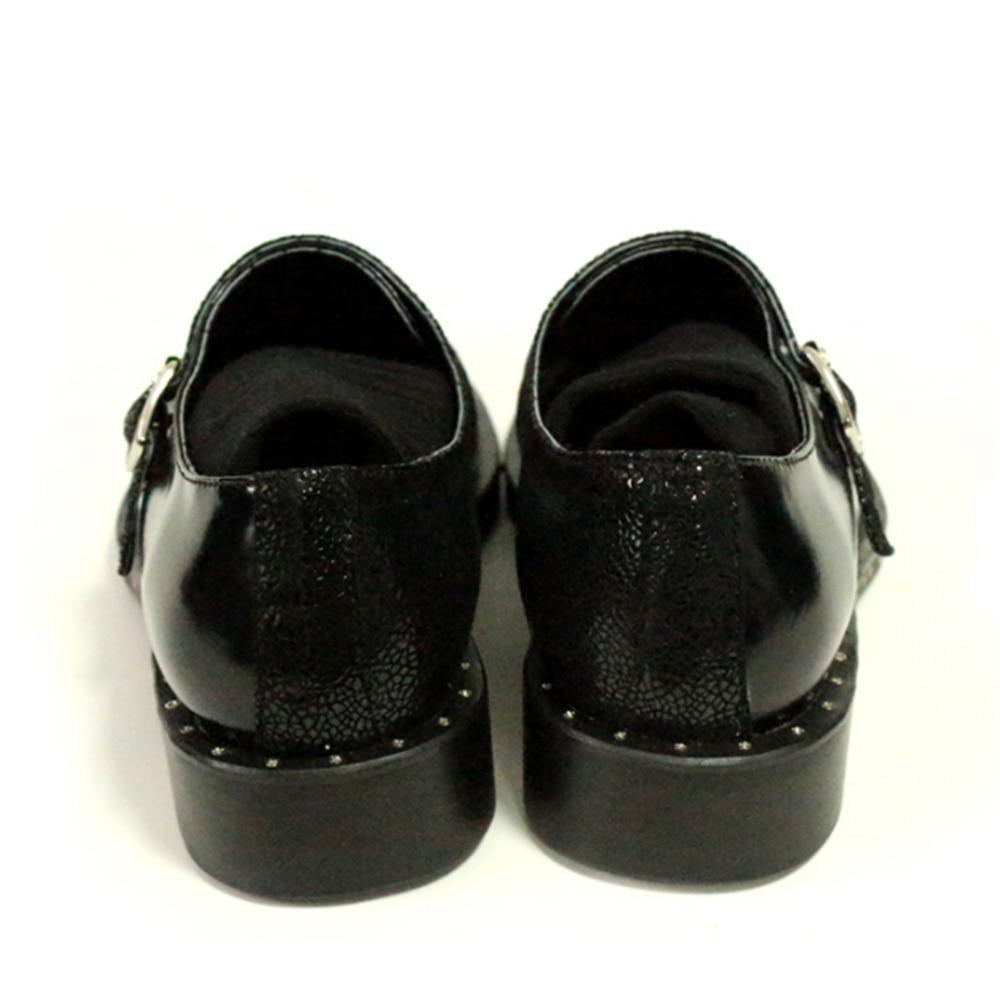 Para Negro Mano Hombre Superior De Cuero Vise Hombres Vestir Compilado Espirales Zapatos Oxford A Hechos tqI6OBw
