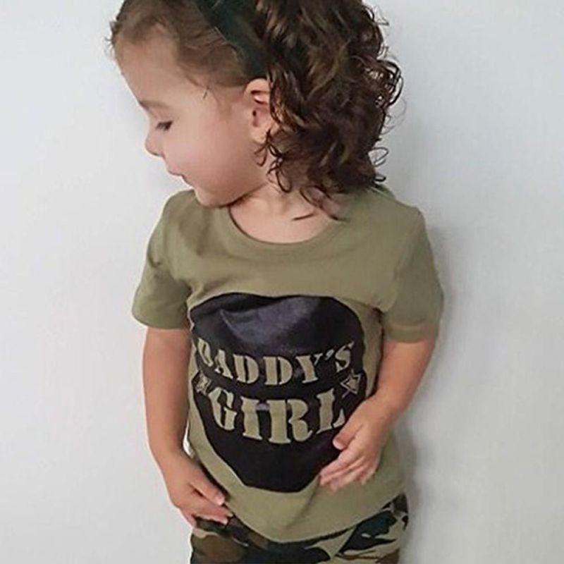 94dae0f6c8f887 Stijlen Daddy Baby Jongen Meisje Katoenen Kleding Camouflage Korte Mouwen  Korte Tops Groen Lange Broek Outfit Casual Outfit Kleding in Stijlen Daddy  Baby ...