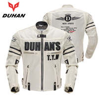 newest Duhan Motorcycle Fashion Racing Jackets Breathable Sleeve Removeable mesh Jacket CE Protective pads Jackets