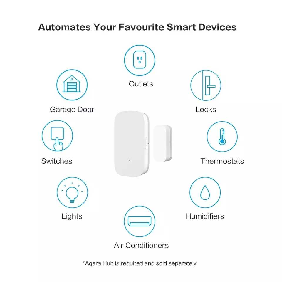 מקורי שיאו mi Aqara דלת חלון חיישן Zigbee אלחוטי חיבור חכם mi ni דלת חיישן לעבוד עם mi App ForAndroid IOS טלפון
