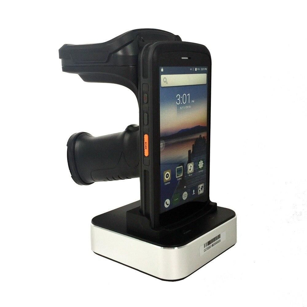 Android 6.0 PDF417 lecteur de codes à barres longue distance étiquette lecture 10 M UHF RFID lecteur terminal de données mobiles PDA avec 4G WIFI bluetooth