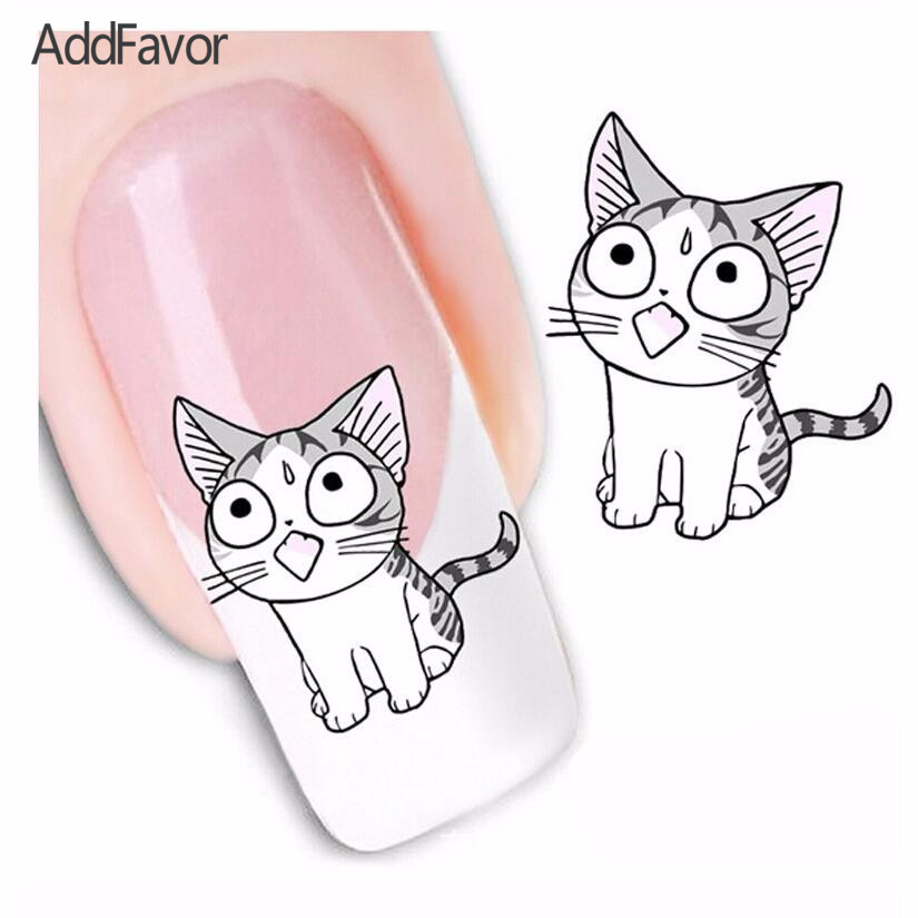 1 шт. кошка ногтей стикера воды передачи ногтем наклейки красота маникюр Ноготь клей Гвозди Инструменты
